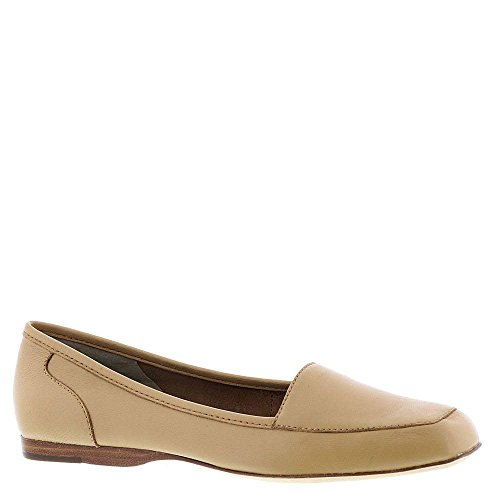 ARRAY Womens Freedom Leather Square Toe Loafers, Beige, Size 10.5