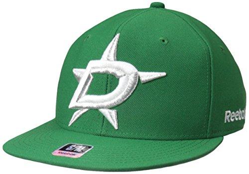 - Reebok NHL Dallas Stars Men's SP17 Oversized Logo Flat Visor Flex Cap, Green, Large/X-Large