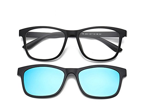 Magnetic Clip on Polarized Sunglasses Opical Glasses Frame Eyeglasses 2 In - 2 Sunglasses In 1