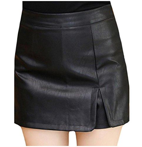quilted leather skirt - 6