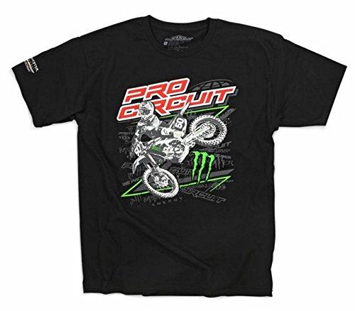 Pro Circuit 6411530-050 Sideways T-Shirt (Black, XX-Large)