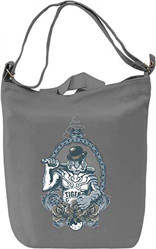 Cool tiger Borsa Giornaliera Canvas Canvas Day Bag| 100% Premium Cotton Canvas| DTG Printing|