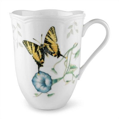 Lenox Butterfly Meadow Tiger Swallowtail 12 oz. Mug Set of 4