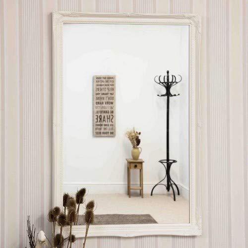 Large Size Large 2 White Shabby Chic Antique Style Rectangular Wall Mirror 40x28