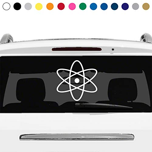 MANY SIZES and COLORS Atomic Symbol Atom Nerd Sign Logo Car Truck Suv Rear Window Glass Decal Sticker Laptop V2