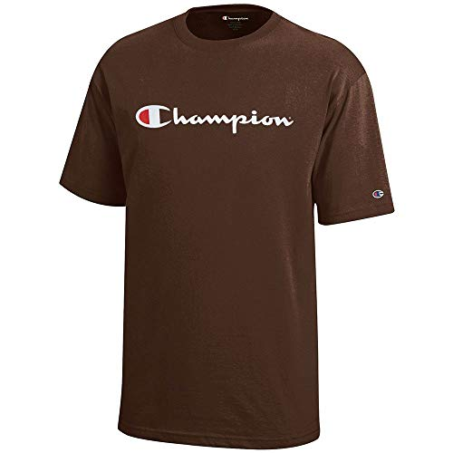 Champion Script Logo Youth (Brown) Short Sleeve T-Shirt ()