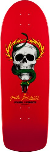 Powell-Peralta Skateboards Mike McGill Skull and Snake Deck (Red, 10-Inch)