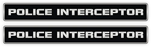 (POLICE INTERCEPTOR Vinyl Decals | Stickers | Emblems | Labels | Mustang Camaro Race Car )