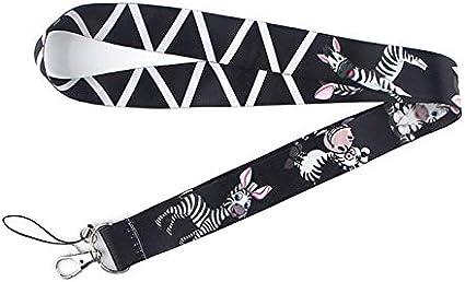 TUDUDU Zebra Lanyard Llavero Lanyards para Llaves Insignia ID Teléfono Móvil Cuerda Cuello Correas Accesorios Regalos Regalos: Amazon.es: Juguetes y juegos