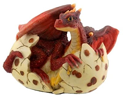 Red Dragon Hatching - Collectible Figurine Statue Sculpture Figure