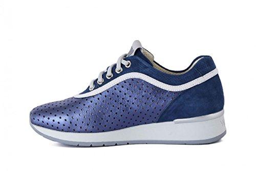 In Techno R2902 denim Walk Sneaker Blu Donna Traforata Melluso Agata Pelle 5qaCwXCH