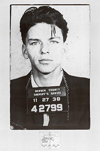 Frank Sinatra Mugshot Poster 24 x 36in