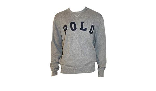 Polo_Ralph Lauren MU25 suéter para Hombre, Color Gris Gris Gris XL ...