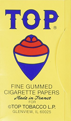 (10 Pack) Top Rolling Papers - 70mm Single Wide Cigarette Papers - Package of 10 (Top 10 Best Cigarettes)