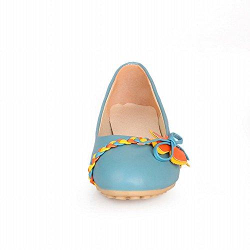 Carol Scarpe Dolce Donna Comfort Colori Assortiti Treccia Applique Carino Casuali Scarpe Basse Blu