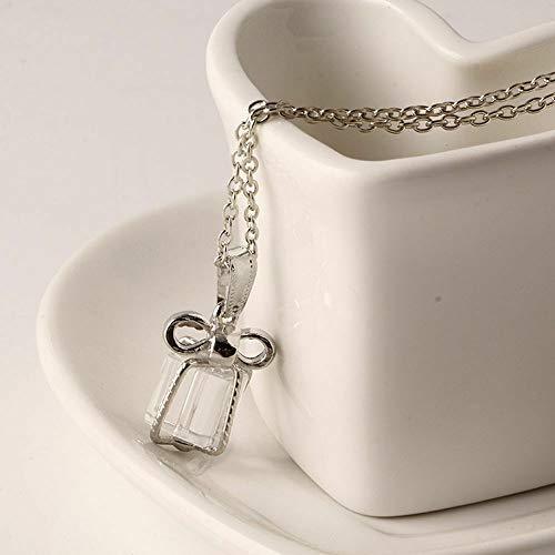 Athena Bronze Pendant - Glass Elegant Necklaces Women Pendants Sweater Jewelry Crystal Necklace Box