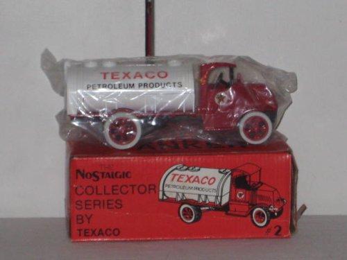Texaco RARE 1985 Ertl Nostalgic Collector Series 1926 Mark Tanker Locking Coin Bank With Key #2 by Terxaco