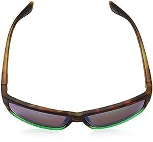Costa del Mar Cut Polarized Iridium Square Sunglasses, Matte Tortuga Fade, 60.6 mm