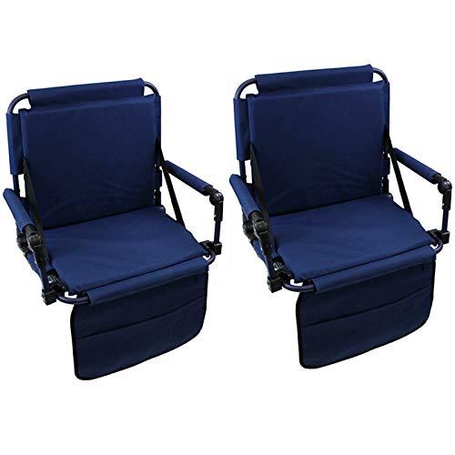 Magshion Original Outdoors Bleacher Portable Folding Heavy Duty Bench Stadium Seats & Cushions Set of 2