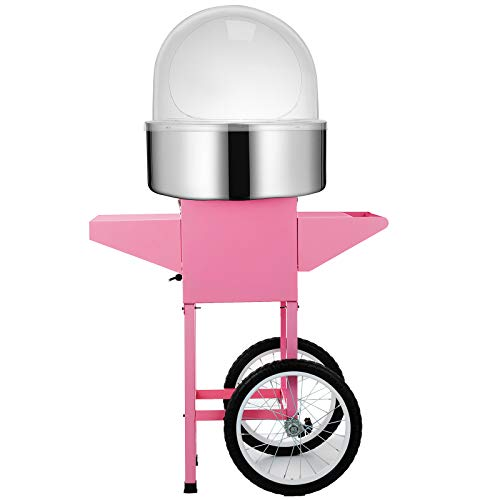 Happybuy Electric Candy Floss Maker 20.5 Inch Cotton Candy Machine 1030W for Various Parties (Cotton Candy Machine with Cart & Cover) by Happybuy (Image #3)
