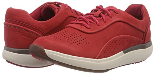 Para Lace Cordones Cruise De Mujer Rojo red Clarks Zapatos Derby Un Nubuck EcRWnq0