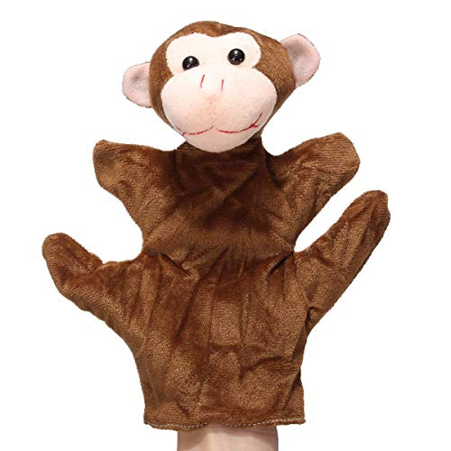 Animal Wildlife Soft Plush Story Finger Glove Puppets Kid Children Toy - Dolls & Stuffed Toys Stuffed & Plush Toys - (009) - 1 x Animal Plush Hand Puppets -