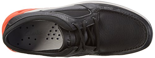 Clarks Ormand Sail, Náuticos Para Hombre Negro (Black Leather)