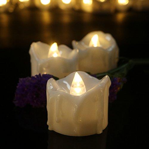 Micandle 24Pcs Warm Timer Candles,Led Flameless Tea Light...