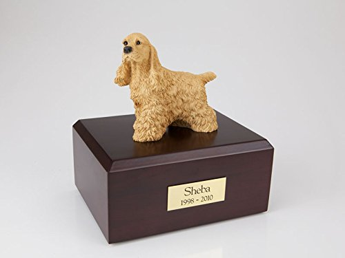 Ever My Pet Cocker Spaniel Figurine Urn Buff Small by Ever My Pet