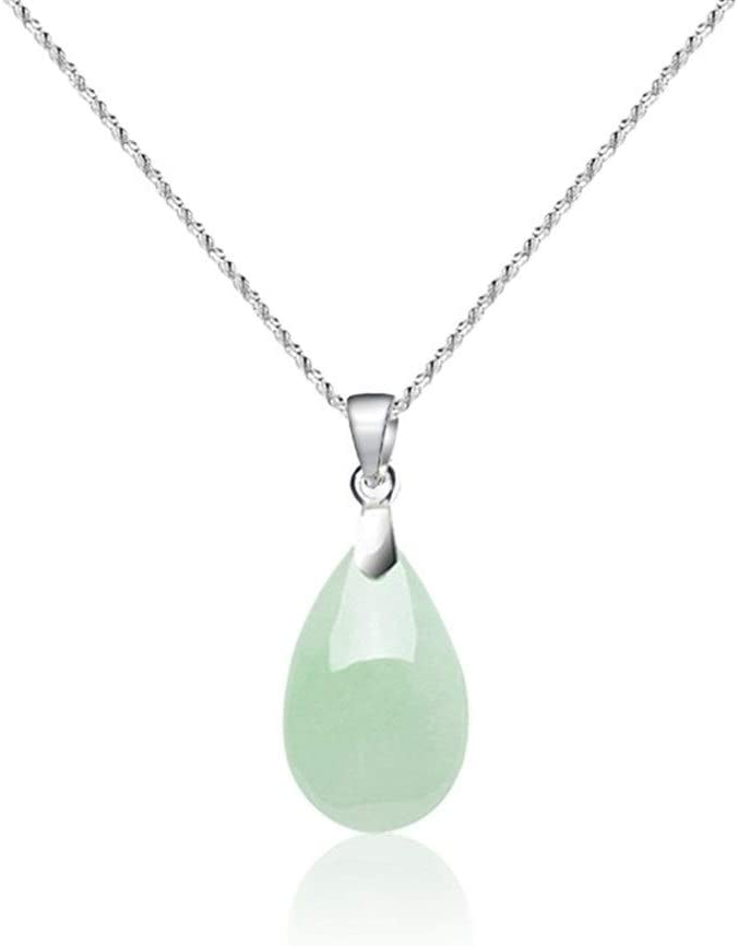 YUANYUAN520 Jade Natural Emerald 13mm Tallados A Mano De La Suerte del Grano Pendiente De La Joyería del Encanto De Accesorios De Moda Regalos De La Mujer del Hombre Amulet Joyería (Gem Color : 03)