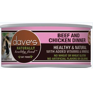Dave'S Naturally Healthy Grainfree Canned Cat Food Beef & Chicken Dinner Formula 3Oz, Pack Of 24 by Dave's Pet Food