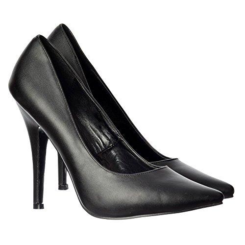 Heel Large Crossdresser Pointed Pu Queen Drag Men's Toe Black Sizes Onlineshoe Women's High wq4aYxg