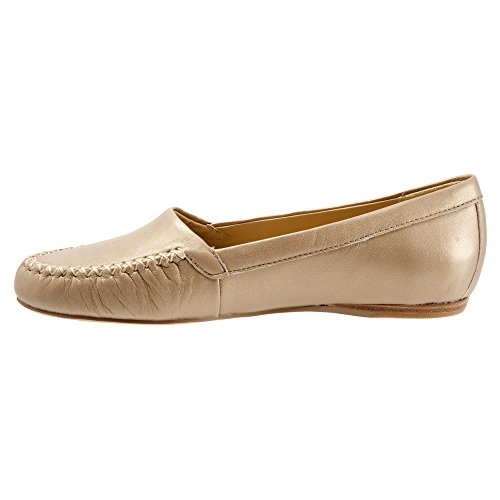 Trotters Dames Mila Loafers Schoenen Goldwash Metallic Zacht Nappaleder