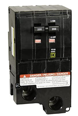 Square D by Schneider Electric QO2200CP QO 200-Amp Two-Pole Circuit Breaker