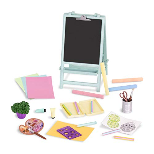 Glitter Girls by Battat - Creative Art Kit Chalkboard Easel Accessory Set - 14-inch Doll Clothes and Accessories for Girls Age 3 and Up - Children's Toys ()