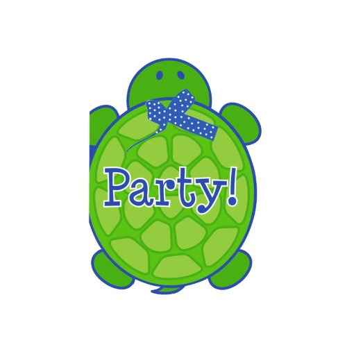Creative Converting Mr. Turtle Birthday Party Invitations, 8-Count -