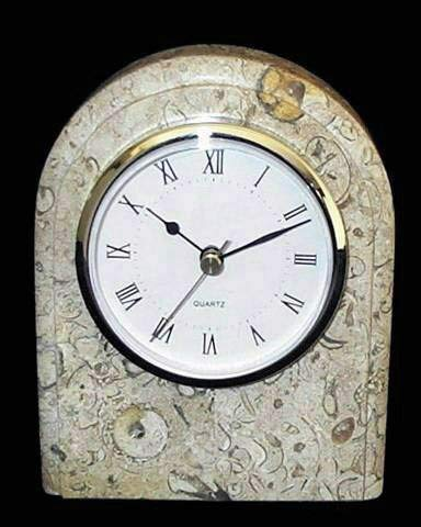 Khan Imports Decorative Coral Stone Clock, Traditional Coral Gift for 35th Wedding Anniversary by Khan Imports