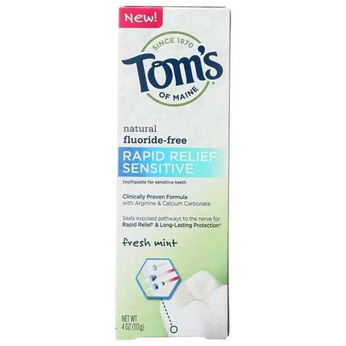Tom's Of Maine Rapid Relief Sensitive Toothpaste 4 oz