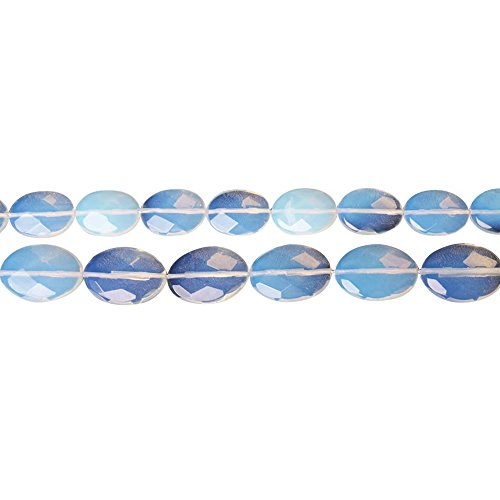 (Faceted Imitationn Opal Stone 810mm Oval Beads for DIY Jewelry Making Supply One Strand 15 Inch Apx 38 Pcs)