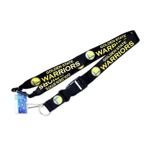 NBA Golden State Warriors Sports Team Logo Clip Lanyard Keychain Id Ticket Holder Black