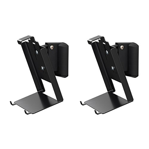 SoundXtra Wall Mounts for Bose SoundTouch 20 - Pair (Black) by SoundXtra