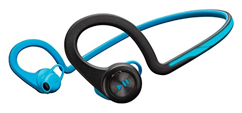 Plantronics Backbeat Fit Wireless Bluetooth Workout Headphones   Waterproof Sports Headphones For Running And Workout  Blue  Frustration Free Packaging