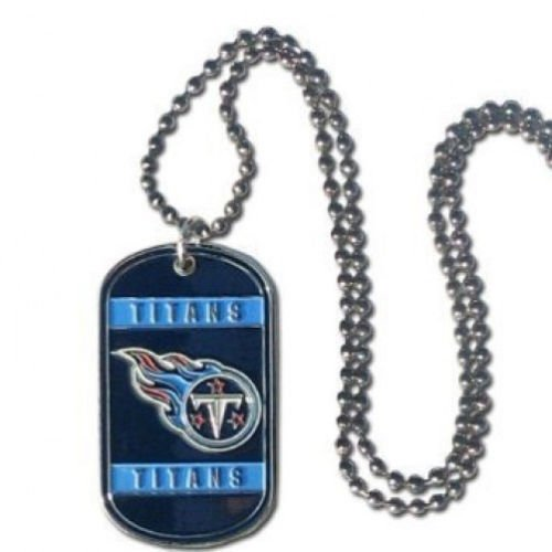 (NFL Stainless Steel Dog Tag Necklace - Tennessee Titans)