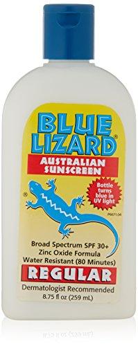 Azul lagarto australiano protección solar, Regular, SPF 30 +, 8,75 onzas botella