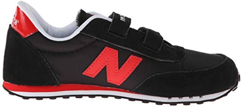 New Balance Unisex Kids KE410KRY M Hook and Loop Low-Top Sneakers, Multicolor (Black/Red), 1.5 UK 33 1/2 EU