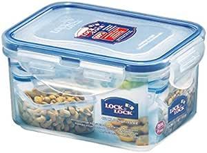 Lock & Lock Classic Short Rectangular Container, 470 ml Capacity, Clear