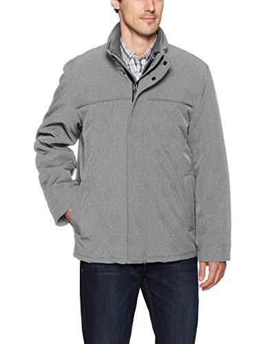 Soft Systems - Dockers Men's 3-in-1 Soft Shell Systems Jacket with Fleece Liner, Heather Grey, Large