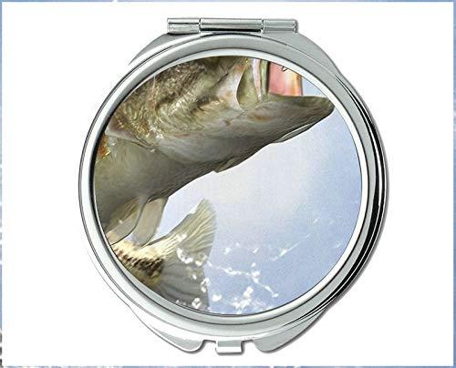 Mirror,Compact Mirror,fishs theme of Pocket Mirror,portable mirror 1 X 2X -
