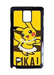 Engood Design Pikachu Pika Case Durable Unique Design Hard Back Case Cover For Samsung Galaxy Note 4 New