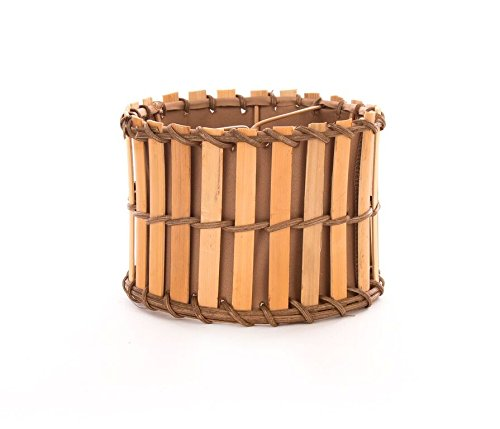 Upgradelights All Natural Bamboo 5.5 Inch Clip on Chandelier Lampshade (Bamboo Lamp Shade)